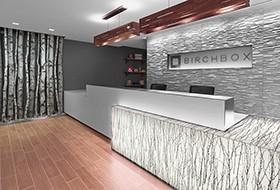 Thiết kế lễ tân văn phòng Birch Box