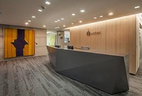 Thiết kế lễ tân văn phòng Grupo Argos