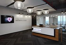 Thiết kế lễ tân văn phòng Informatica