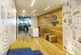 Thiết kế lễ tân văn phòng Mercado Libre