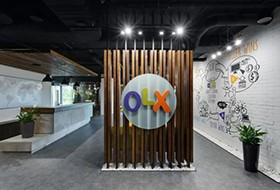 Thiết kế lễ tân văn phòng OLX