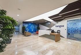 Thiết kế lễ tân văn phòng TANGOE