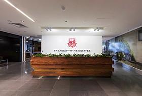 Thiết kế lễ tân văn phòng Treasury Wine Estates
