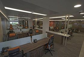 Thiết kế nội thất văn phòng làm việc công ty Cybernet